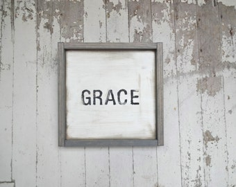 Little grace rustic wood sign