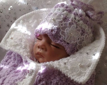 Baby Cocoon With Matching Hat