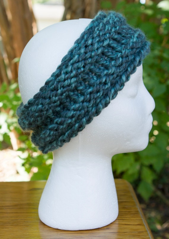 ONE IN STOCK - Ready to Ship! / Blueberry Chunky Headband/Ear Warmer