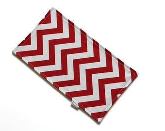 SALE || Burp Cloth || Chevron Red || Fleece Backing