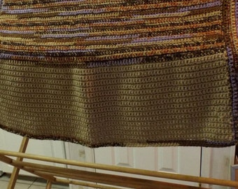 Festival Shawl Wrap Handmade Warm Crocheted Shawl