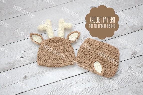 Crochet Pattern Newborn Deer Hat And By Handmadethisandthat