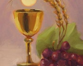 Eucharist...Original Oil Painting by Maresa Lilley, SND