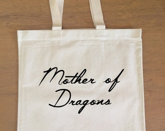 Game of Thrones Tote Bag - Daenerys Targaryen - Mother of Dragons - Khaleesi