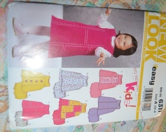 New Look 6311 Toddlers Dress and Panties Sewing Pattern - UNCUT - Size 1/2 - 4