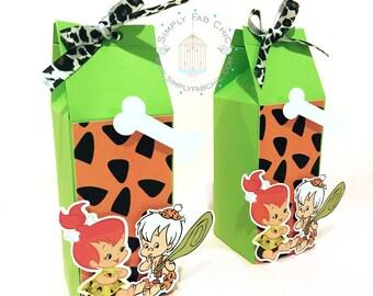 Personalized Favor Box (Qty 10) - Bam Bam   Peebles Flinstones for birthday, wedding, baby shower