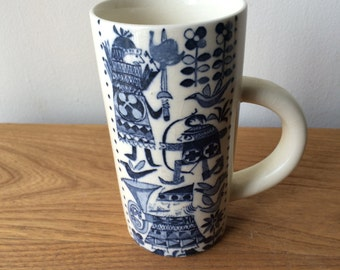 Vintage Tall Scandinavian Mug