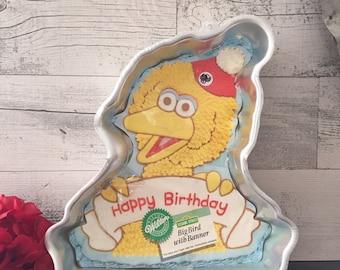 Vintage Big Bird Cake Pan by Wilton - Sesame Street Party - Big Bird - Wilton Cake Pan - Big Bird Sesame Street Party Cake Pan