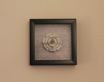 Book Paper Flower Shadowbox
