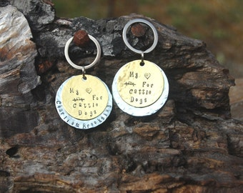 Personalized Dog Breed  Keychain, Custom Dog Breed Keychain, Personalized Heart Skips a Beat Dog Breed Keychain, Heeler Christmas Keychain