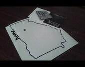 "Atlanta Home vinyl decal 4.5"" x 3.5"" Georgia states laptop sticker macbook decal"