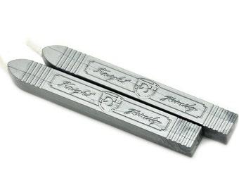 2 Metallic Pewter Wick Sealing Wax Sticks for Wax Seal Stamp