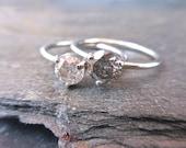 Custom Salt and Pepper Diamond Ring, Three Prong, Round Brilliant, Made To Order, 14k Gold, Diamond Ring, Modern Engagement, Salt and Pepper