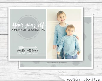 Christmas Photo Card, Tribal, Christmas Card, Holiday Card, Christmas Card with Picture, Personalized, Printable Digital File or Printed
