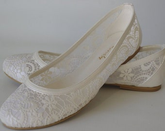 Flat wedding shoes – Etsy