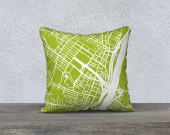 Albany Map Pillow Cover