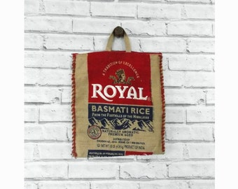 Vintage Burlap Rice Bag Purse | Burlap Purse | Vintage Burlap | Purse with Zipper