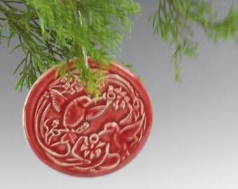 Hummingbird ornaments - bird holiday ornaments - Christmas home decor - bird Christmas ornaments O152