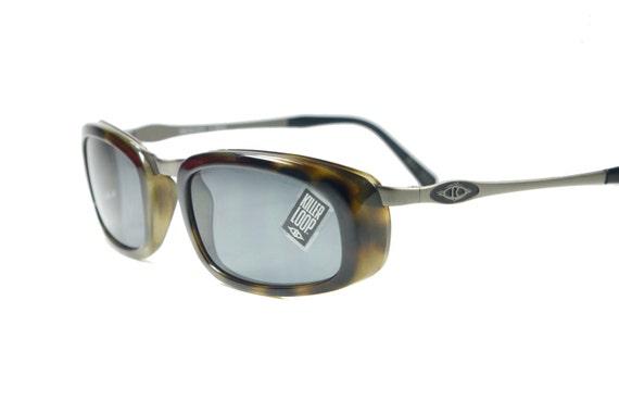 Killer Loop vintage 90s tortoise cello and gunmetal slightly side shielded sunglasses, cool, NOS