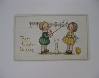 Easter Artist Signed Vintage Postcard - Margaret Evans Price Russell - Best Easter Wishes - Gibson Art Series #520 - Used - 1915
