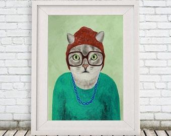 Cat Print by Coco de Paris