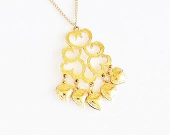 Dangle Heart Pendant Necklace