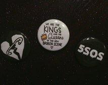 5 Seconds of Summer Button Pack