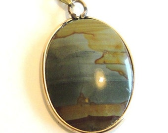 Jasper Pendant Gold Filled Costume Jewelry