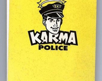 Vintage Official Karma Violation Booklet - Paperback – by Karma Police - Good Karma Co.- 1991 - Karma tickets for karmic violators