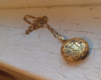 Exquisite Early 1900's Antique Gold Filled Finberg Locket Necklace
