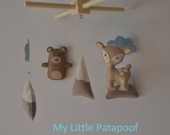 Baby Mobile - Blue Woodland