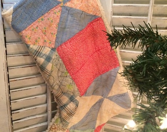 Quilted Christmas Stocking from Vintage Cutter Quilt #6