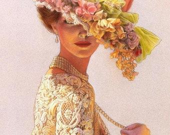 Fleur Perfume Mist  1/2 oz.  Romantic Perfume, Victorian Perfume, Soft Floral Perfume, Feminine Perfume Gift For Her, Old-Fashioned Perfume