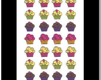 Cupcake Stickers || Stickers for Life Planner