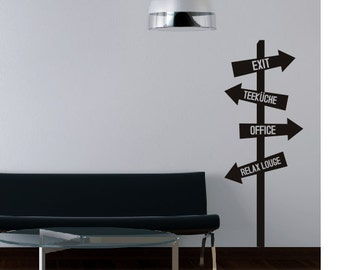 wall sticker wall decal  SIGNPOST