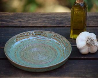 stoneware garlic grating / olive oil dipping dish