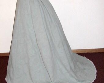 Grand Parlor Civil War Victorian/Bustle Skirt/ Steampunk/1869 Trained Skirt