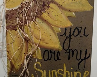Sunflower Painted Canvas