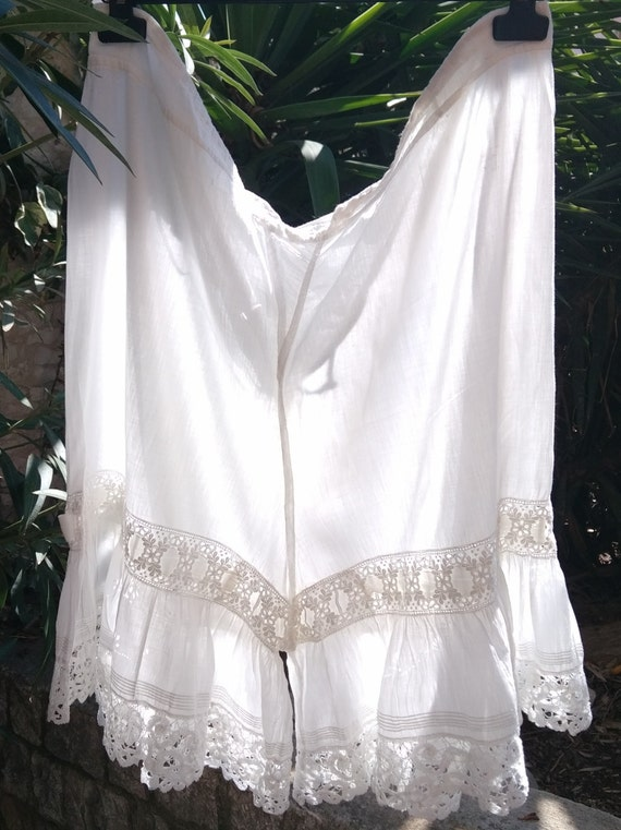Victorian Lacy Bloomer Handmade White French Cotton #sophieladydeparis