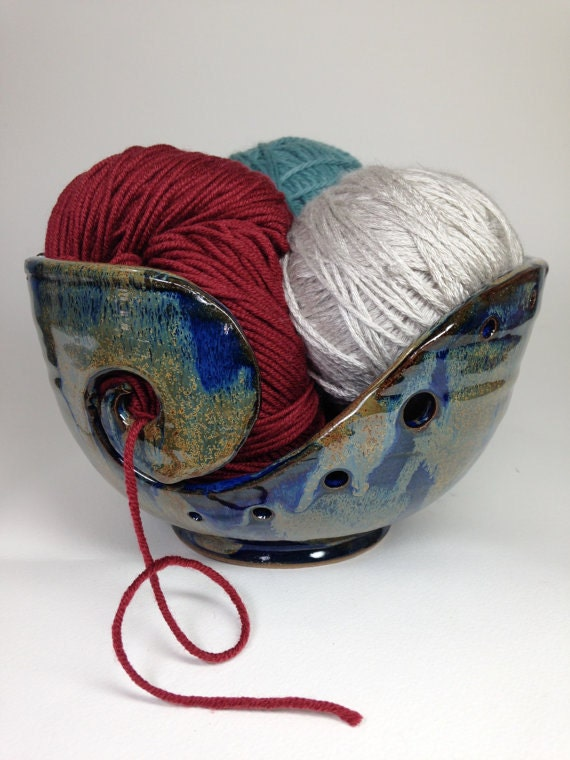 Rustic Pottery Yarn Bowl - Made To Order