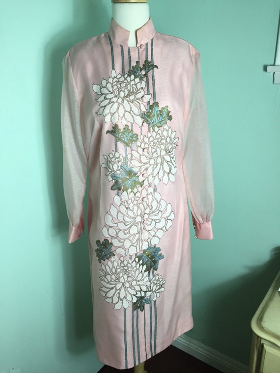 Late 60s Early 70s Alfred Shaheen Hostess Dress!! M L
