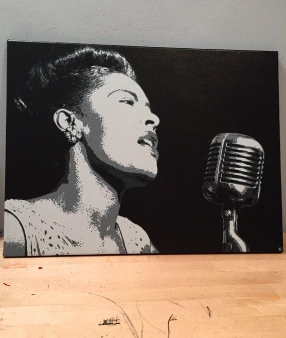 "Billie Holiday Custom Pop Art Painting 18""x24"" Canvas"
