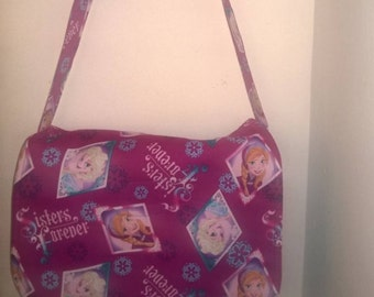 Frozen - Handmade Sisters Forever Messenger / Cross Body Bag