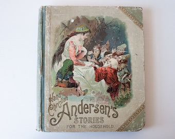 Antique McLoughlin Bros Hans Christian Andersen illustrated childrens fairy tale story book 1893