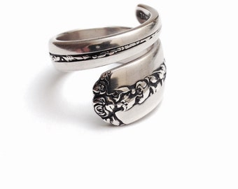 Vintage Sterling Silver Spoon Ring - Circa 1937