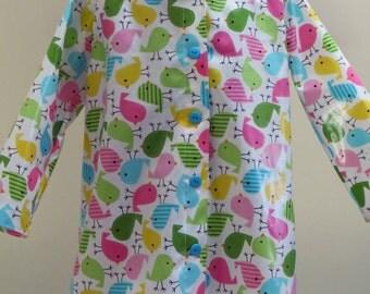 Raincoat, Size 3-4, Lined Hood, Laminated Cotton, Boy Raincoat, Girl Raincoat