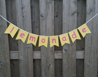 Lemonade Banner, Lemonade Birthday, Lemonade Stand Banner, Lemonade Sign, Pink Lemonade, Lemonade