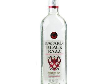 Empty Bacardi Bottle, Black Razz Bottle, DIY project, Bacardi Bottle, Empty Bottle, Craft Supplies