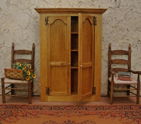 Rustic Farmhouse Armoire/Cabinet 1:12 Scale Miniature