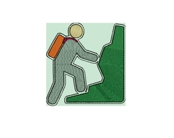Hiking embroidery file